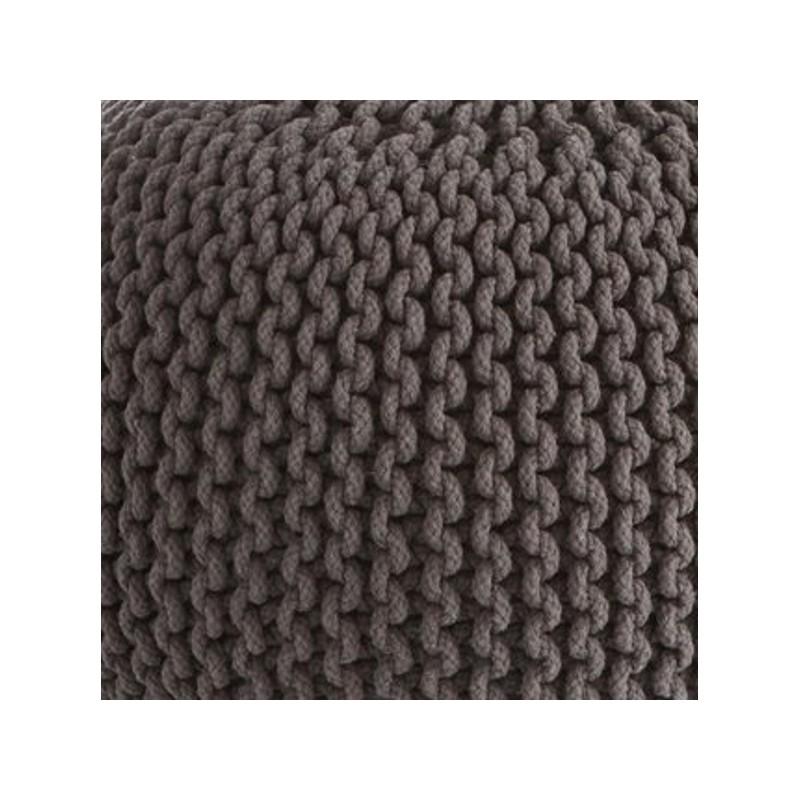 cocon pouf rond tress gris anthracite 45x35 cm si ge. Black Bedroom Furniture Sets. Home Design Ideas