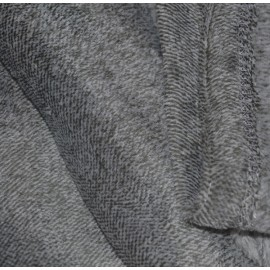 MARAWA - Plaid polaire gris foncé anthracite chiné 125x150 cm