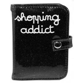 Porte-cartes SHOPPING ADDICT noir glitter