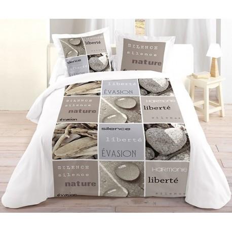 housse de couette liberte nature parure housse de couette. Black Bedroom Furniture Sets. Home Design Ideas