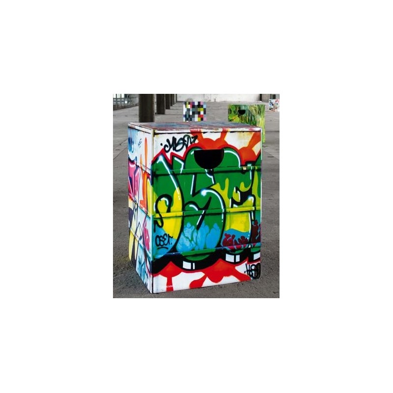 graffiti tabouret carton design graffs resistant d co. Black Bedroom Furniture Sets. Home Design Ideas