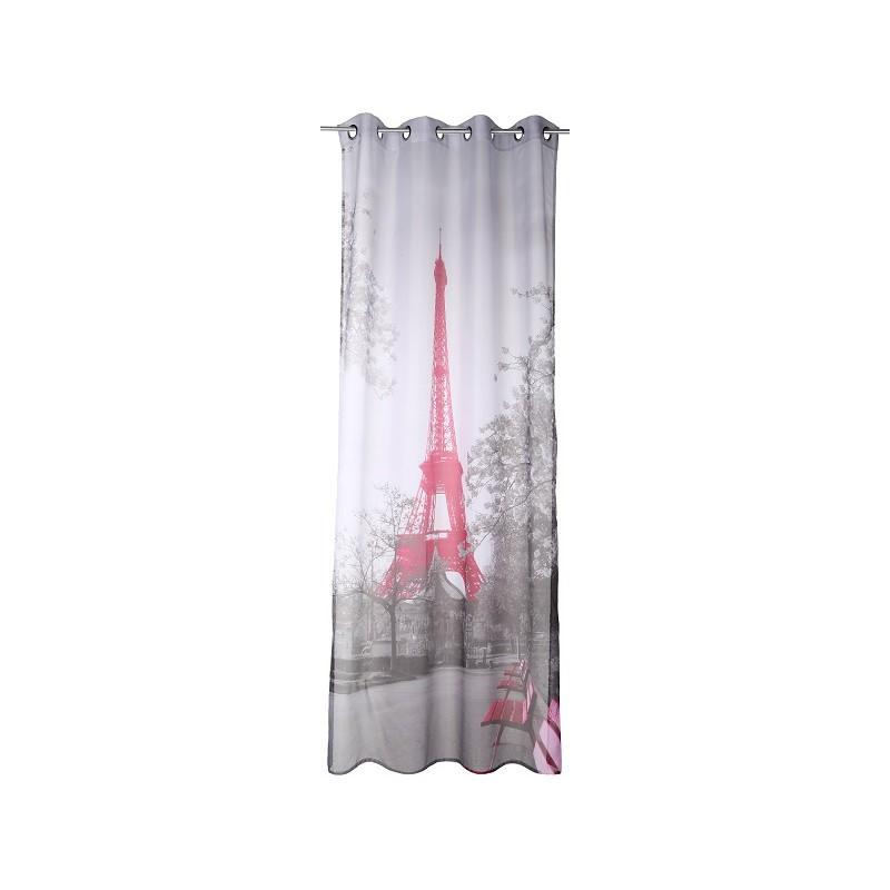 paris voilage 140x250cm d coration fen tre rideau design. Black Bedroom Furniture Sets. Home Design Ideas