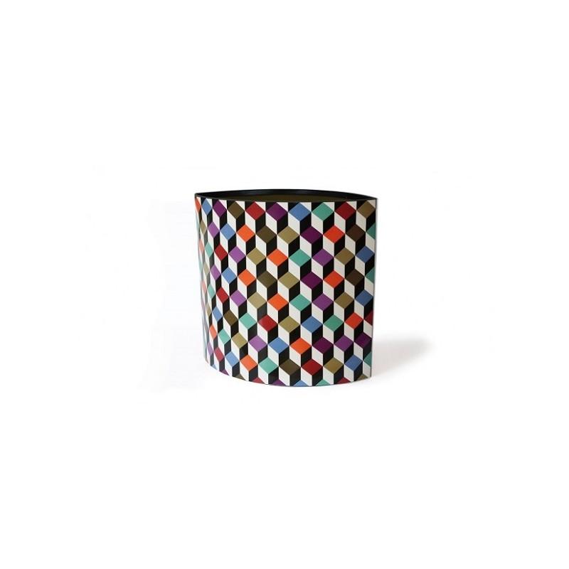 Cubic corbeille papier en carton bureau chambre ado - Poubelle chambre ado ...