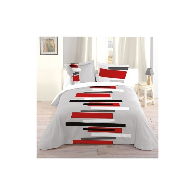 housse de couette moderne housse de couette percale moderne brod e et imprim e housse de. Black Bedroom Furniture Sets. Home Design Ideas
