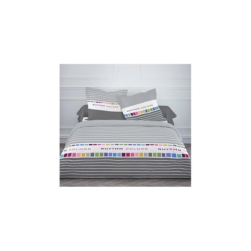rhythm colors parure housse couette 240x220cm 2 taies. Black Bedroom Furniture Sets. Home Design Ideas