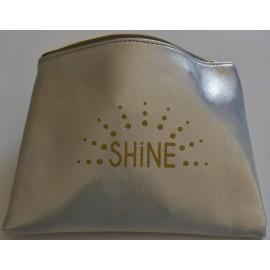 SHINE pochette plate, argent glitter, irisée de paillettes 20x15 cm