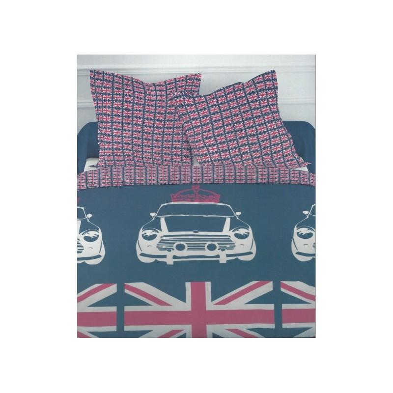 housse de couette  london flag x cm taies oreiller parure lit personnes