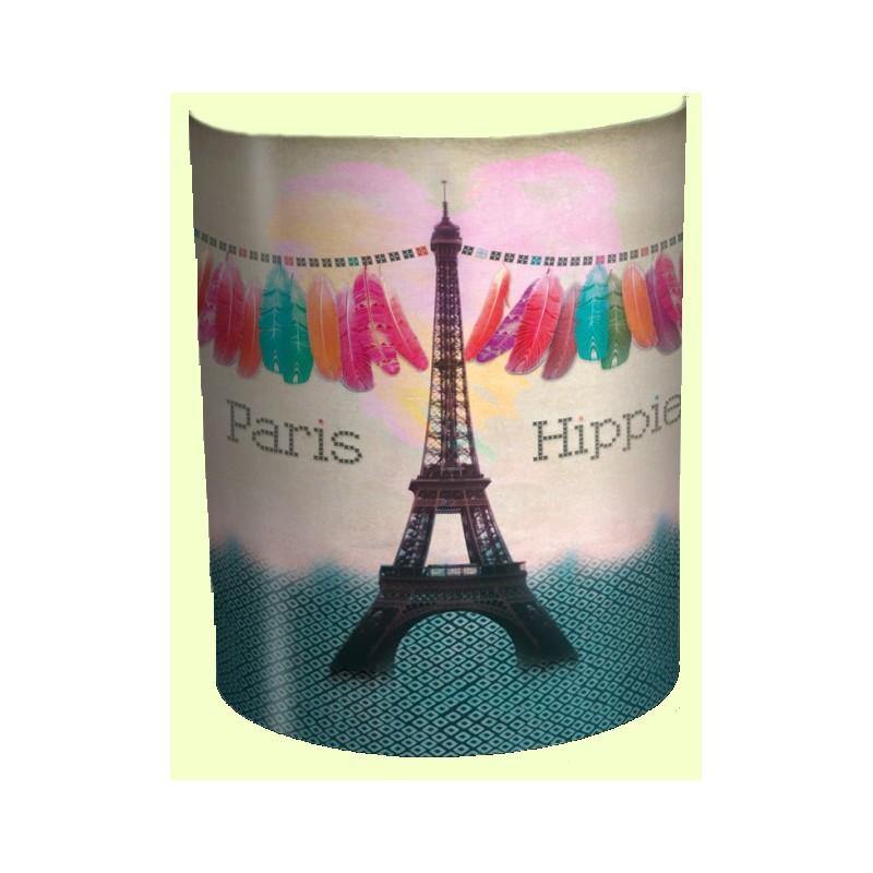 paris hippie applique murale lampe imprime tour eiffel - Applique Murale Chambre Ado Fille