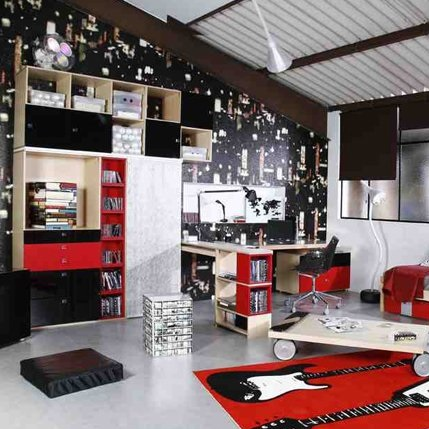 chambre d 39 ado ambiance studio kolorados. Black Bedroom Furniture Sets. Home Design Ideas