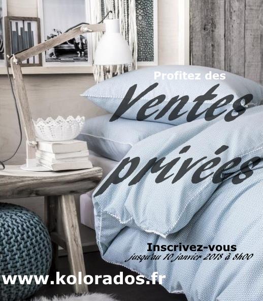 cheap finest kolorados vous invite ses ventes prives collection hiver objet decoration linge de. Black Bedroom Furniture Sets. Home Design Ideas