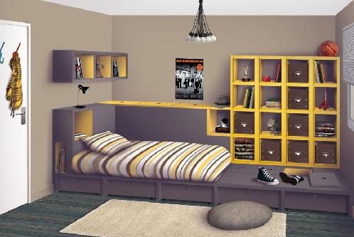 D corer une chambre d 39 ado en 5 tapes kolorados - Idee rangement chambre fille ...