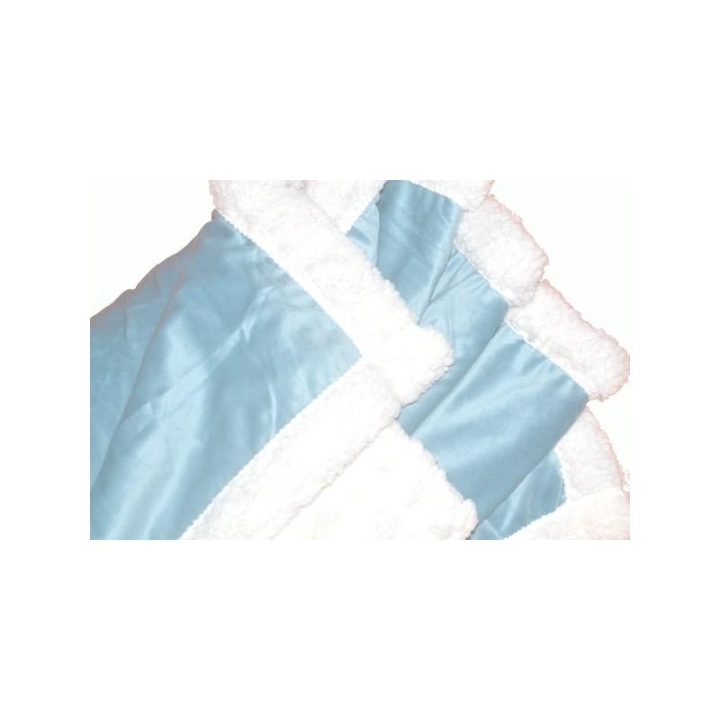 FURLY - Plaid sherpa polaire bleu clair doublé fourrure 125x150 cm 142a74d2de0