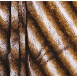 PRATTO - Plaid imitation fourrure marron 150x180cm doublé