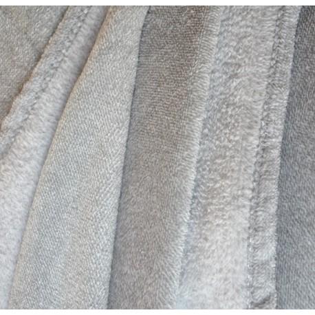 MARAGREY - Plaid polaire gris clair chiné 125x150 cm