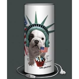 TEO JASMIN A NEW YORK lampe de bureau 40 cm imprimée Amérique