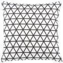 GEOMETRIK - coussin 45x45 cm blanc coton motif graphique losanges