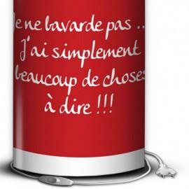 RED lampe de bureau 40 cm rouge imprimé blanc