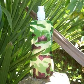 SAFARI - gourde motif camouflage vert - 475 ml - sans BisPhenol A
