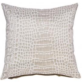 CROCO coussin 45x45 cm beige imprimé ethnique motif crocodile