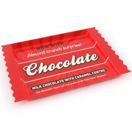 CHOCOLAT - plateau mélaminé rouge imprimé rétro chocolate