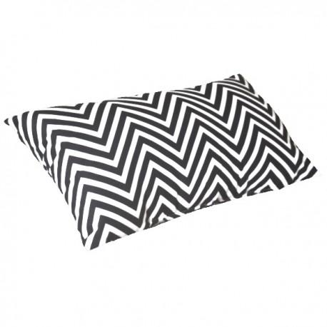 ZIGZAG - coussin 30x50 imprimé de lignes graphiques noir et blanc