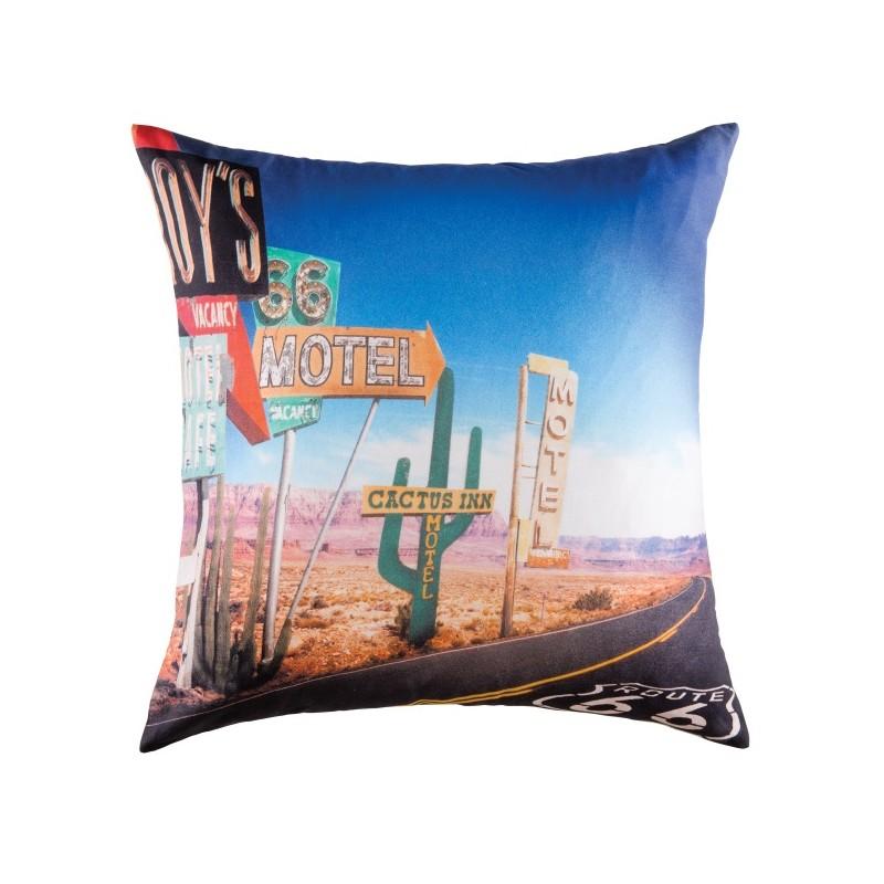 route 66 housse de coussin 50x50 cm imprim cactus dans le d sert usa kolorados. Black Bedroom Furniture Sets. Home Design Ideas
