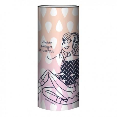 SECRET lampe de chevet 30 cm imprimée féminin