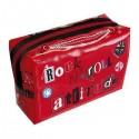 ROCK N ROLL – Trousse rectangulaire rouge imprimée rock n'roll attitude
