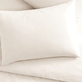 WHITE - Taie d'oreiller rectangle 50x70 cm coton col.blanc