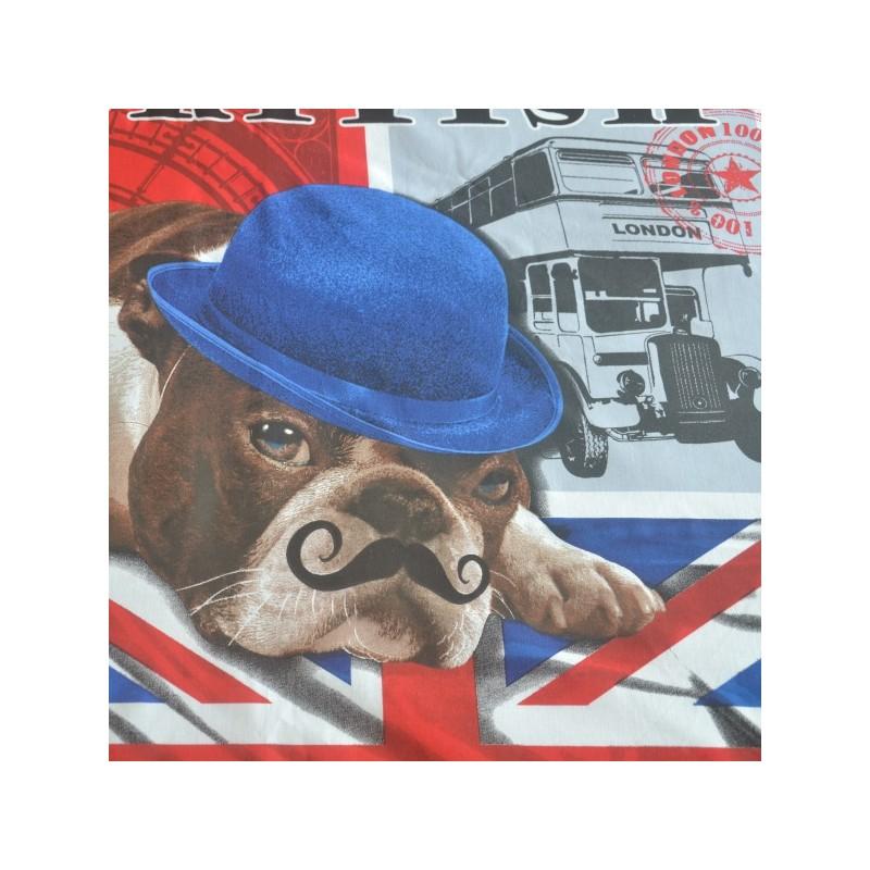 British housse de couette 220x240 london dog lit 2 pers - Housse de couette london 2 personnes ...