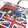 BRITISH – Housse de couette London bulldog 220x240 cm lit 2 personnes