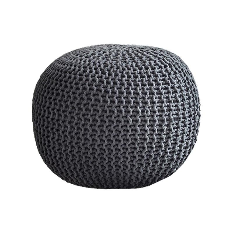 cocon xxl pouf rond g ant tress gris anthracite 65x45 kolorados. Black Bedroom Furniture Sets. Home Design Ideas