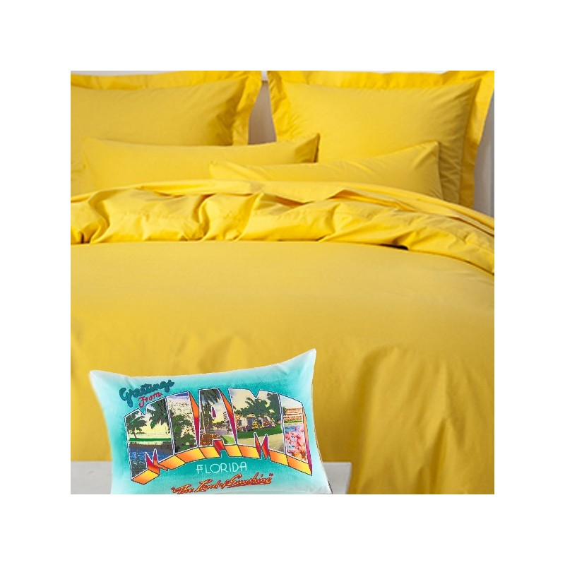 Ambra parure housse de couette 220x240 jaune tendance kolorados for Housse de couette tendance