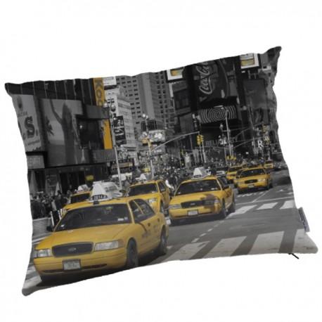 NEW YORK - Coussin 40x50 cm - Imprimé Taxis Américains