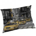 NEW YORK - Coussin 40 x 50 cm - Imprimé Taxis Américains