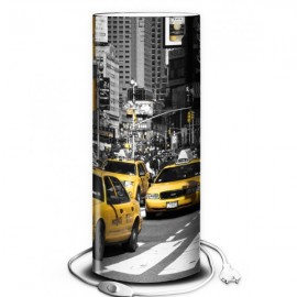 EMPIRE - Lampe de Chevet 30 cm - Motifs Taxis à New York