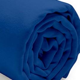 MARINA - Drap Housse 90 x 190 cm - Bleu Indigo - Lit 1 personne