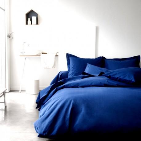 MARINA - Housse de Couette 220x240 cm - Lit 2 Personnes - Bleu Indigo