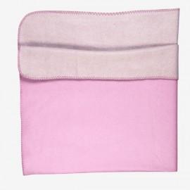 TUTTI - Plaid Rose Bicolore Microfibre Polaire Viscose 130 x 150 cm