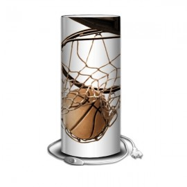 BASKETBALL - Lampe de Bureau 40 cm imprimée - Ballon en cuir Panier