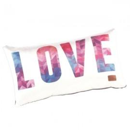 LOVE - Coussin 20 x 35 cm Satin Imprimé