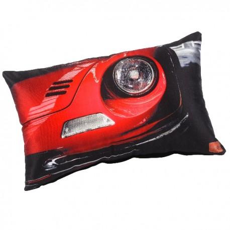 CARS - Coussin 30 x 50 cm - Imprimé Voiture Rouge