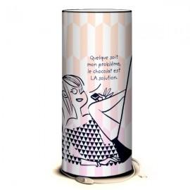 CHOCOLAT - Lampe de Bureau 40 cm Imprimée - Message Design