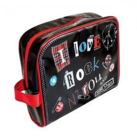 ROCK - Trousse de Voyage Noire Imprimée I Love Rock N Roll