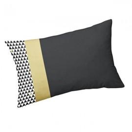 TERRAZZO - Coussin 30 x 50 cm Noir - Imprimé Or Noir