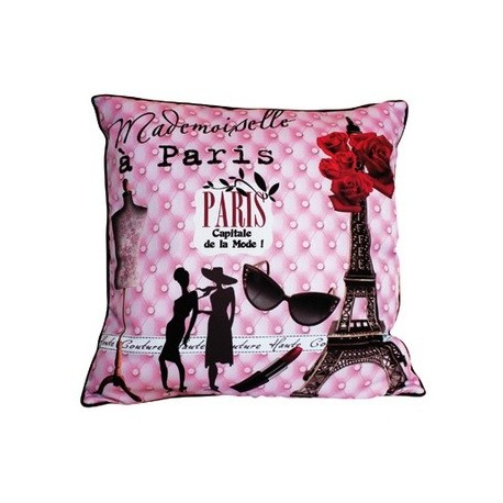 coussin mademoiselle paris dco chic