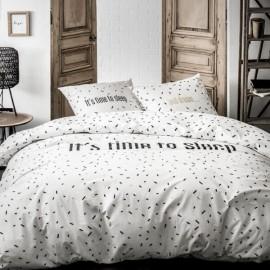 SLEEP - Housse de Couette 220 x 240 cm - Blanc Noir