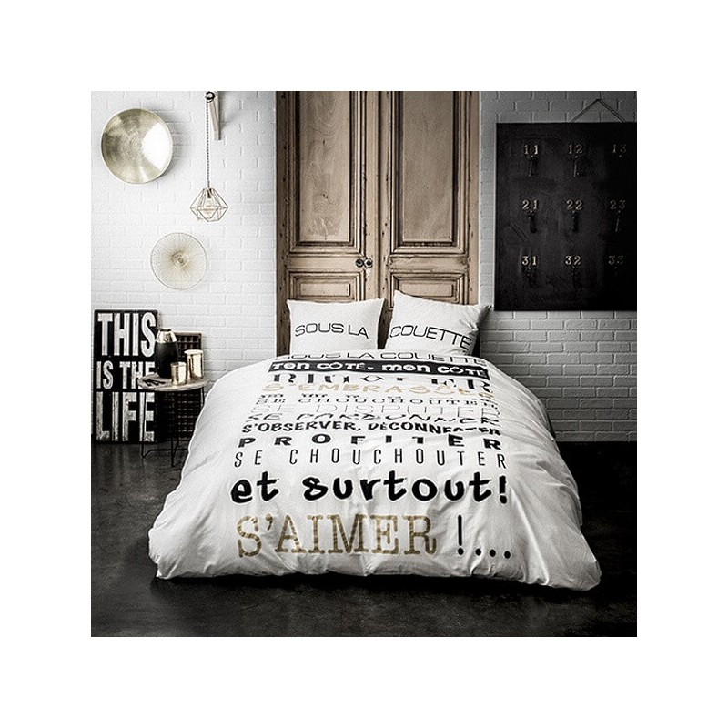 s 39 aimer housse de couette 220x240 cm parure lit 2 pers kolorados. Black Bedroom Furniture Sets. Home Design Ideas
