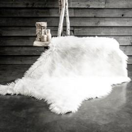 GRIZZLY - Tapis Blanc Chalet - Fourrure Poils Longs