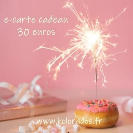 Chèque cadeau de 30 €